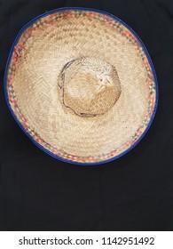 Sombrero Hat on black background - Shutterstock ID 1142951492