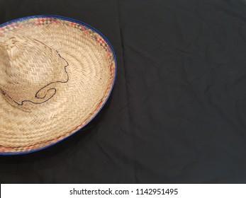 Sombrero Hat on black background - Shutterstock ID 1142951495