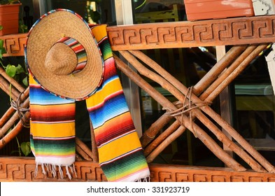 sombrero and poncho in Mexico