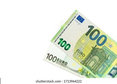 some 100 euro banknotes second edition indicating economics with copy space
