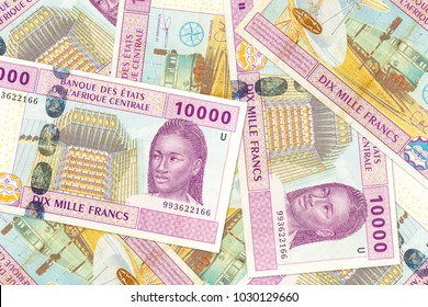 some 10000 central african CFA franc bank note obverse