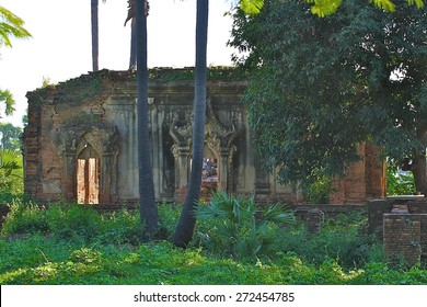 Some of the ancient ruins found at Inwa of the ancient palace from the 19th Century near Mandalay, Myanmar.