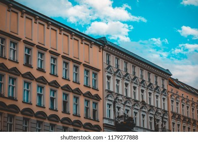some apartment row houses at prenzlauer berg