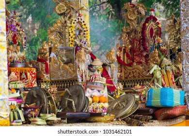 Some of the Balinese offerings at Melasti day