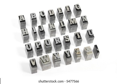 Some block letters forming the alphabet