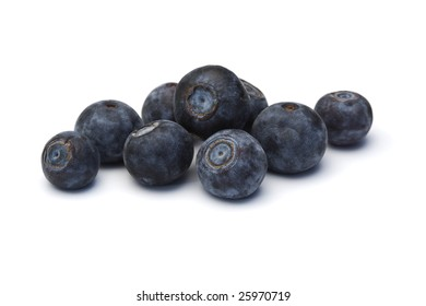 some blueberries isolated on white background