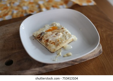 some bread cook with eggs