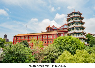 Some building of Eight Trigram Mountains Buddha Landscape at Changhua, Taiwan