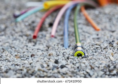 Some Cable at a fiber optic broadband construction site