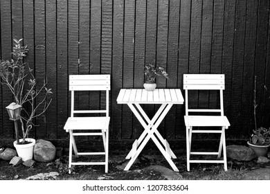 Some chairs in Torshavn Färöer
