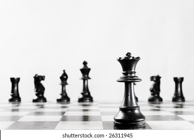 Some chess pieces, good background