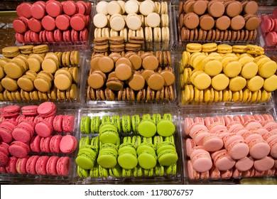 Some colorful macarons.