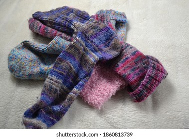 some colorful and woolen socks