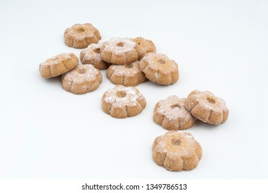 some cookies on a white surface