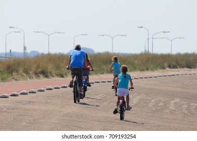 Some cyclists at a ride in the nature