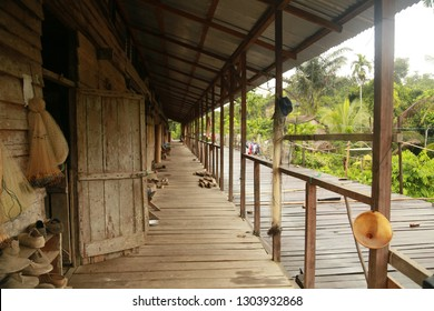 some Dayak Iban tribes still live in longhouses. They live in a roominside the house. Some are still made of wood.    Iban Dayaks are spread in West Kalimantan and the Sarawak