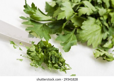 Some freshly chopped parsley and fresh leaves
