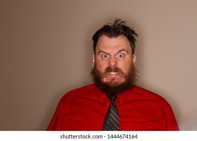 some guy at work who is mad and making very angry faces