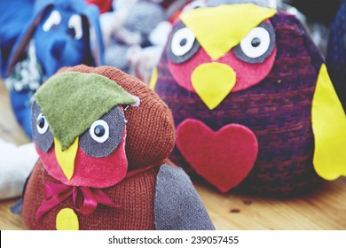 Some handmade toys of the Christmas market
