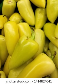 Some hot yellow Caribe chili peppers, also named chile guero in Mexico. Typical food ingredient in Mexican-American cuisine.