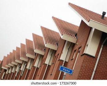 Some houses in Vista, a street in Almelo, a town in the eastern part of the Netherlands.
