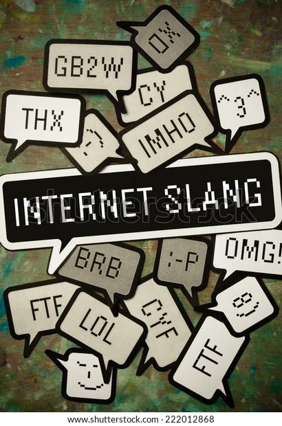 Some internet slang expressions on paper.
