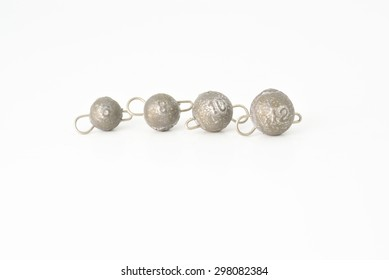 some jig lead sinkers with copper