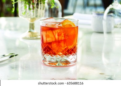 Some kind of cocktail, negroni.