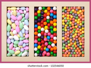 some kinds of candy in box