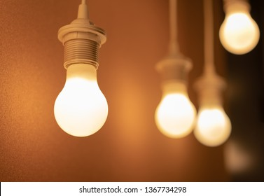 some led lamps light science technology background