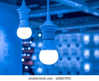 some led lamps  selling blur background