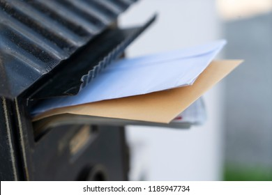 some letters in the letterbox