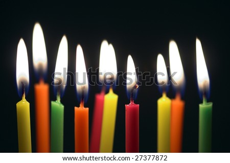 some lit birthday candles close stock photo edit now 27377872