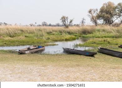 Some Makoros in the Okavango Delta prepared for a safari