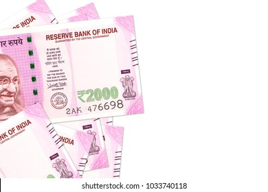some new 2000 indian rupee bank notes