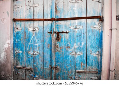 some old doors of muharraq city of bahrain
