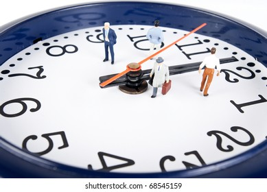 some people on clock of time