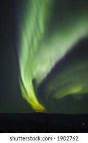 Some pinkish-reddish color in aurora borealis