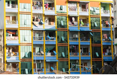 Some residential apartment with terrace in Yangon, Myanmar