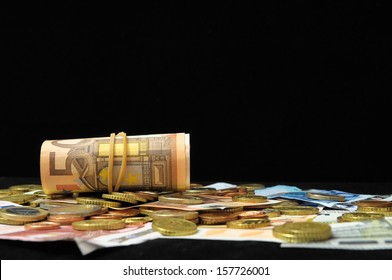 Some Scattered Money Representing Different Markets Financial Concept
