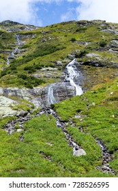 Some of the stunning waterfalls of the Salzplatten, fed by the glaciers of the Venediger massive in the Austrian Hohe Tauern national nature reserve.