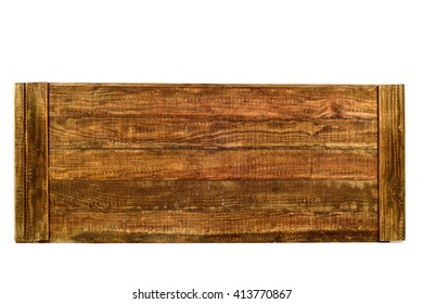 some tongued rustic wooden planks on a white background