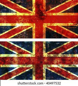 some very old grunge flag of great britain