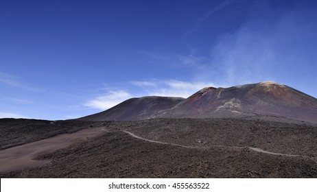 Some of Volcano Etnas many craters