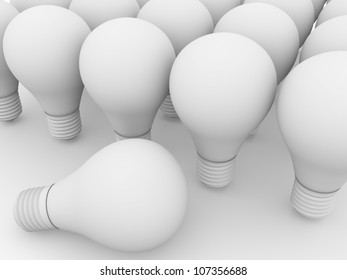 Some white lightbulbs. Electricity and power business concept.