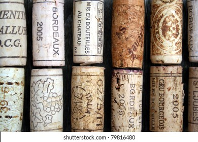 some wine corks from France