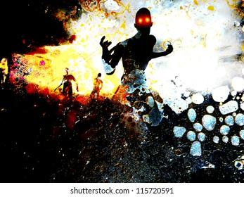 Some zombie figures