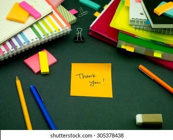 Somebody Left the Message on Your Working Desk; Thank You