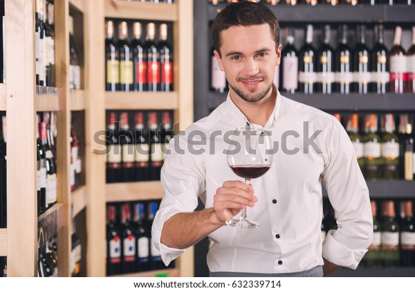 Somellier Wine Business Alcohol Drink Store Concept