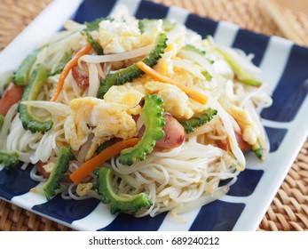 Somen chanpuru (Okinawan fried somen)